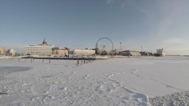 vídeos y material grabado en eventos de stock de back to helsinki in winter time by ferry boat - finlandia