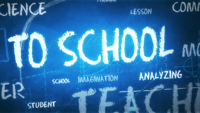 back to school - background (loopable) - western script stock videos & royalty-free footage