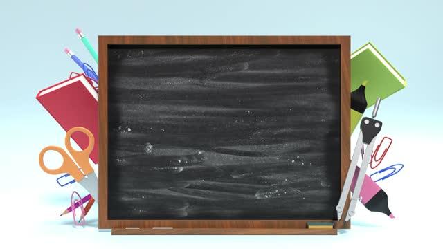 4k解像度で学校の機器で学校のコンセプトに戻る - 消しゴム点の映像素材/bロール