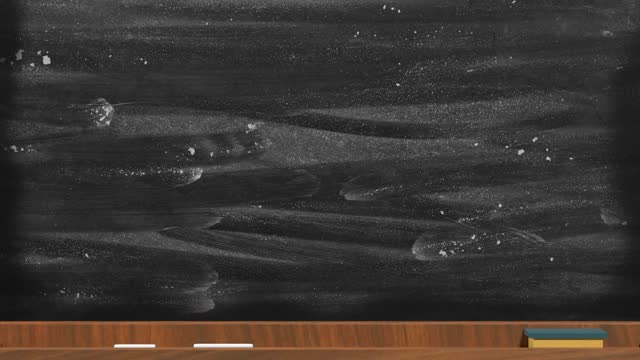 4k解像度で黒いボード上の感謝のテキストで学校のコンセプトに戻る - 消しゴム点の映像素材/bロール