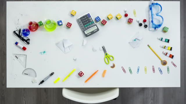 back to school stop motion - stationary stock videos & royalty-free footage