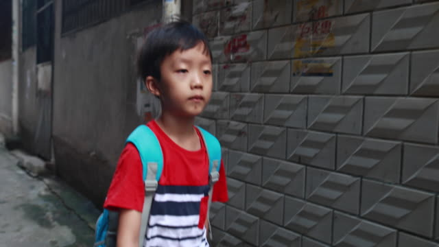 back to school - hutong alley stock videos & royalty-free footage