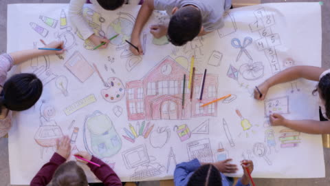vídeos y material grabado en eventos de stock de vuelta a la escuela  - arte