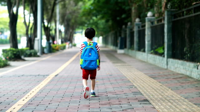 back to school - primary school child stock videos & royalty-free footage