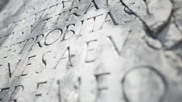 back to the ancient rome: roman latin script on the appian way - ancient rome stock videos & royalty-free footage