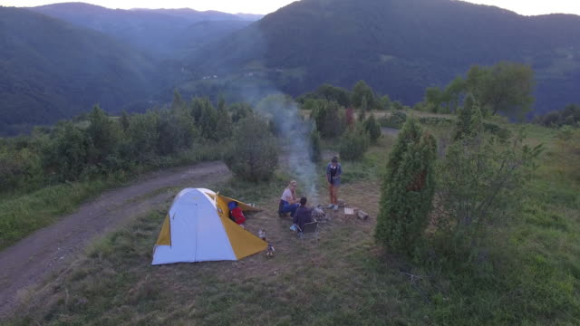 back to the nature - camping stock videos & royalty-free footage