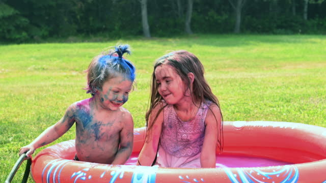 back yard sister and brother playing - sister stock videos & royalty-free footage