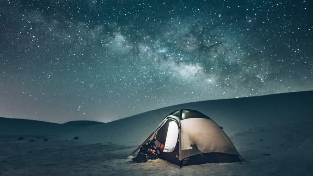 backcountry camping under the stars - camping stock videos & royalty-free footage