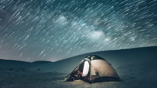 backcountry camping under the stars - tent stock videos and b-roll footage