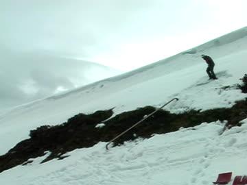 stockvideo's en b-roll-footage met backcountry railslide - veiligheidshek