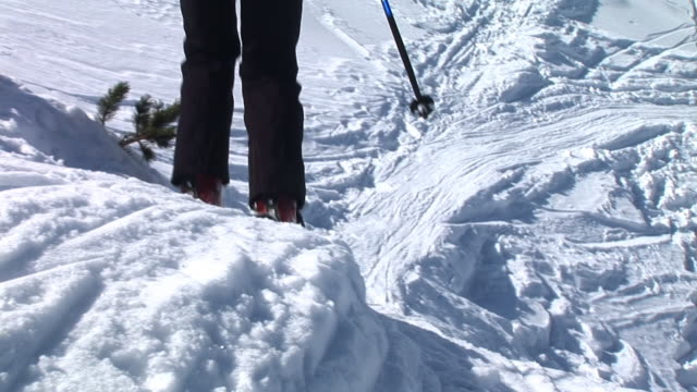 hd: backcountry skiing - telemark stock videos and b-roll footage