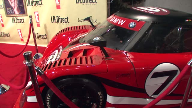 backdrop and race car at the la direct magazine's holiday party at les deux in los angeles california on december 14 2007 - les deux club stock videos & royalty-free footage