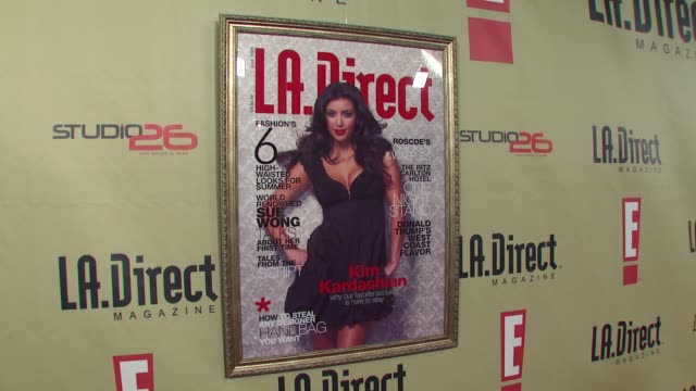 backdrop at the la direct magazine's holiday party at les deux in los angeles california on december 14 2007 - les deux club stock videos & royalty-free footage