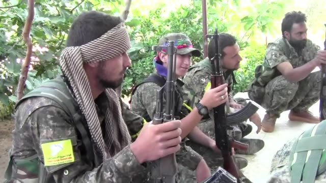 us backed fighters on friday ousted the islamic state group from raqa's old city a spokesman told afp bringing them closer than ever to the jihadists... - syrian democratic forces stock videos & royalty-free footage
