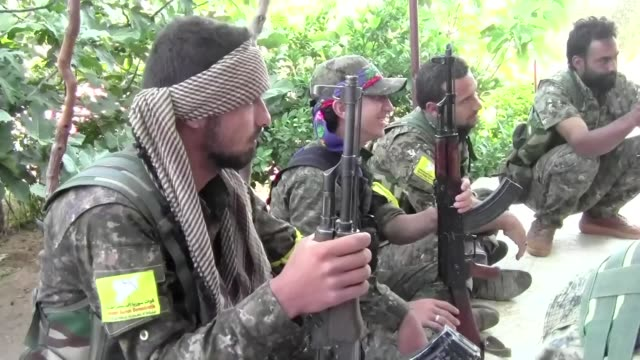 us backed forces said tuesday they had taken full control of raqa from the islamic state group defeating the last jihadist holdouts in the de facto... - syrian democratic forces stock videos & royalty-free footage