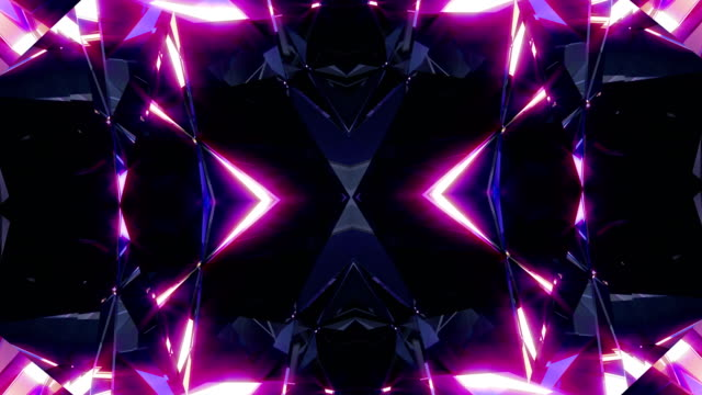 vj background 4k loop - kaleidoscope pattern stock videos & royalty-free footage