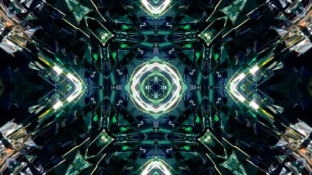 vj dj background 4k loop - kaleidoscope pattern stock videos & royalty-free footage
