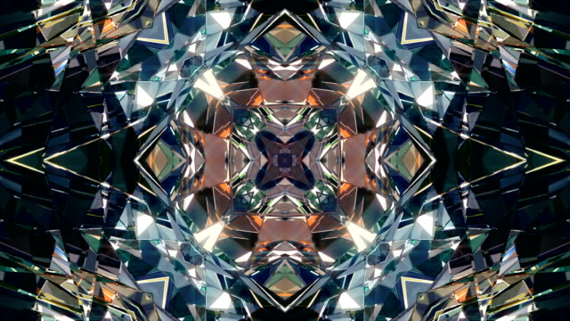 vj dj background 4k loop - kaleidoscope pattern stock videos & royalty-free footage