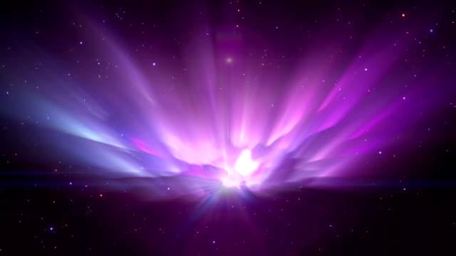 hintergrund aurora raum - polarlicht stock-videos und b-roll-filmmaterial