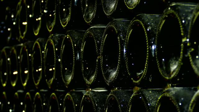 background - champagne in the winery - wine cellar stock videos and b-roll footage