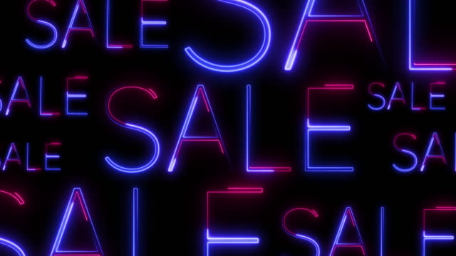 background consisting of neon titles-sale for discount days and black friday. - capital letter stock videos & royalty-free footage