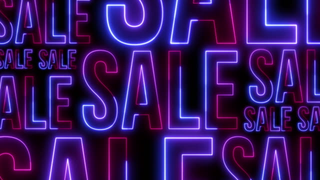 background consisting of neon titles-sale for discount days and black friday. - world title stock videos & royalty-free footage