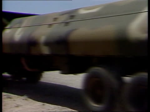 Cruise missiles deployment FX/FX USA Arizona EXT MS Cruise missiles along on lorries to BV LS Ditto