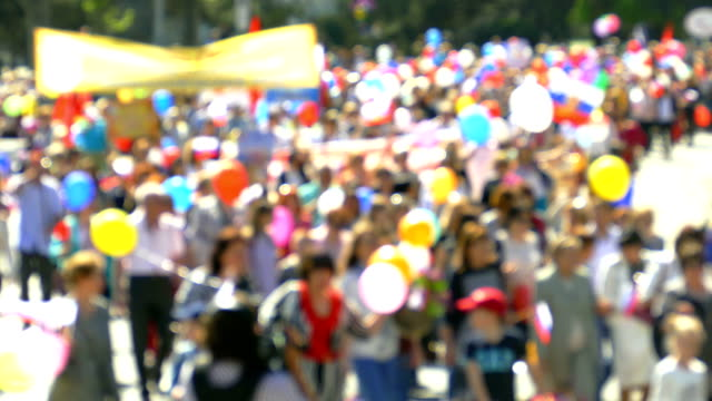background - festive column of people - parade stock videos & royalty-free footage