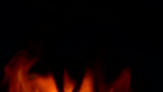 background flame - fuoco acceso video stock e b–roll