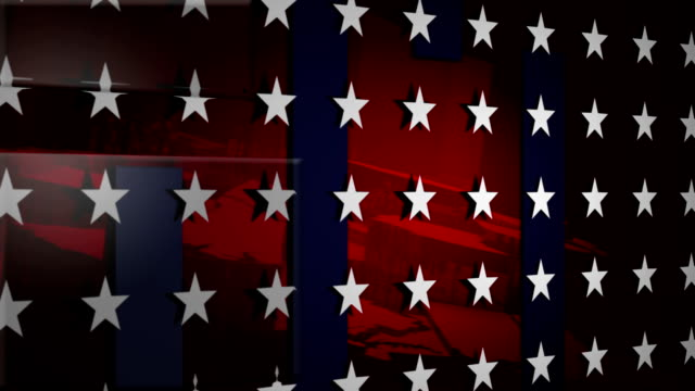 us background loop - stars and stripes stock videos & royalty-free footage