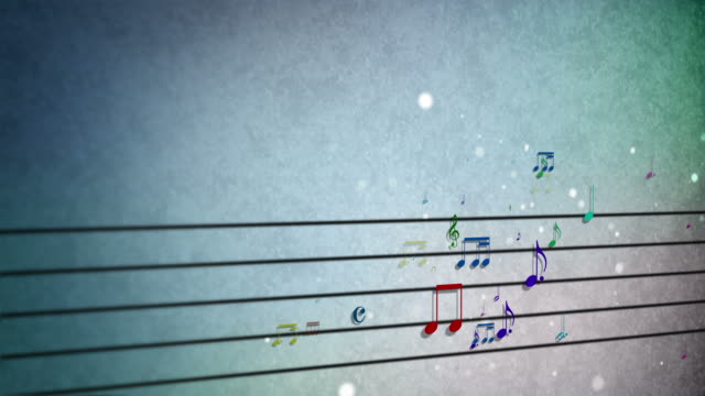 background musical score notes loopable - musical symbol stock videos & royalty-free footage
