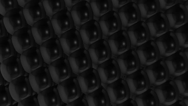 3d background of dark finely mesh balls animation. - mesh textile stock videos & royalty-free footage