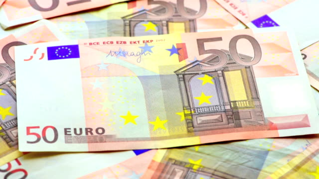 background of euro banknotes - euro symbol stock videos and b-roll footage