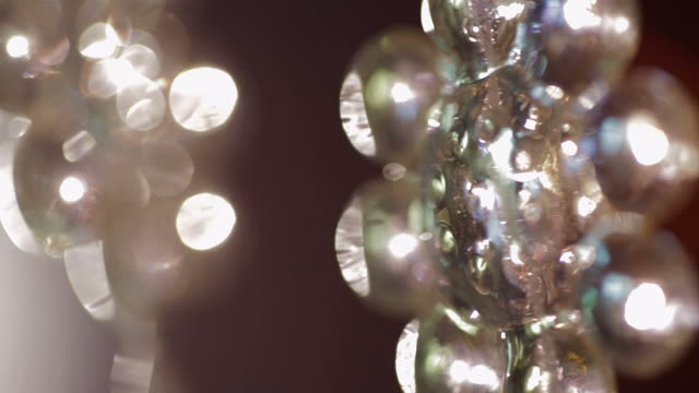 background pan over clear flower - beaded curtain stock videos & royalty-free footage