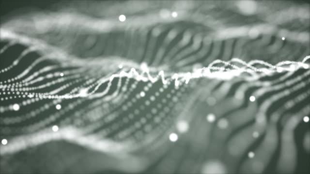 hintergrund-partikel-schleife - grau stock-videos und b-roll-filmmaterial