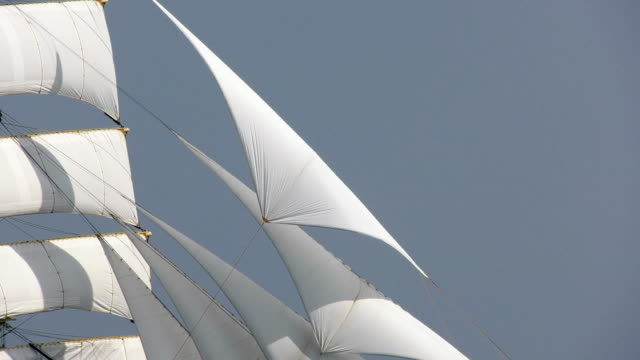 background - passing sails of an old ship - ship stock videos & royalty-free footage