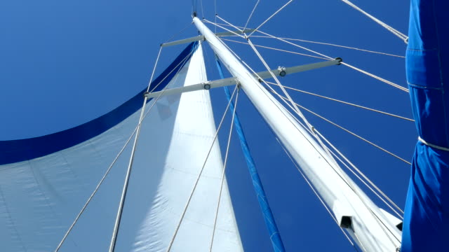 背景 - レーシング ヨットの帆 - 帆点の映像素材/bロール