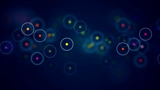 vídeos de stock, filmes e b-roll de fundo com bela multi colorido bokeh círculos - parélio