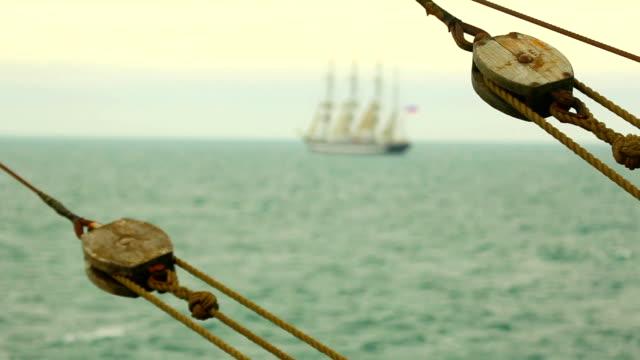 sfondo con belle tall ships - veliero video stock e b–roll