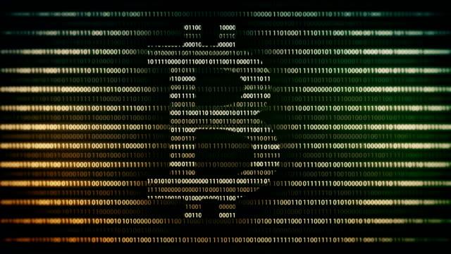 Hintergrund mit Bitcoin Schleife