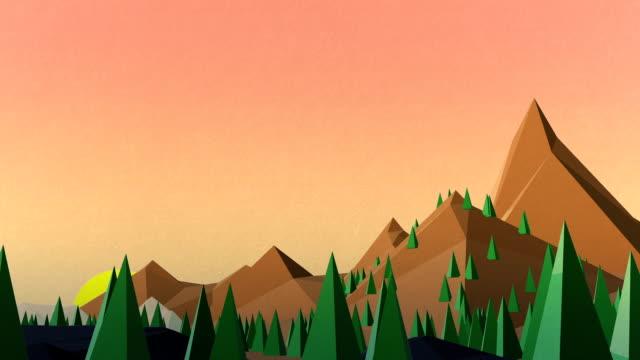 vidéos et rushes de fond avec les montagnes - origami