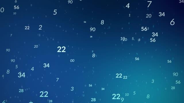 vídeos y material grabado en eventos de stock de fondo con números (loopable) - letra del alfabeto