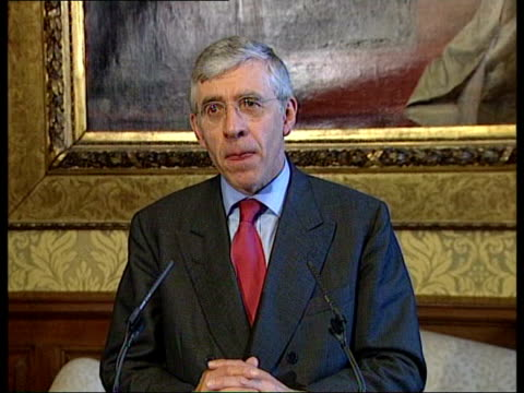 Basra bombings ITN ENGLAND London INT Jack Straw MP press conference SOT many will be asking what is point of such a strategy/ it is not a strategy...