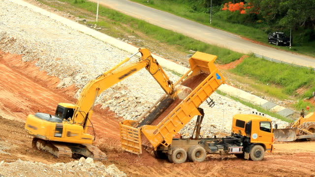 backhoe at work - construction vehicle stock videos and b-roll footage