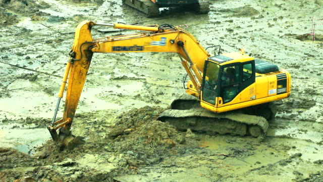 backhoe - yellow stock videos & royalty-free footage