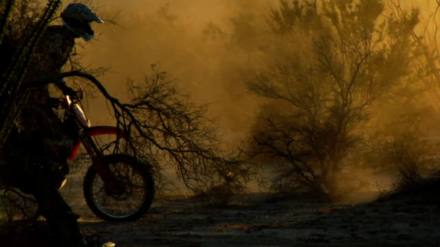 backlit motocross rider - baja california peninsula stock videos & royalty-free footage