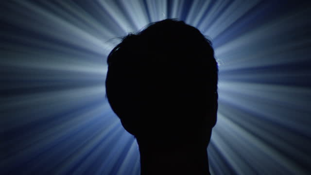backlit silhouette of a man - back lit stock videos & royalty-free footage
