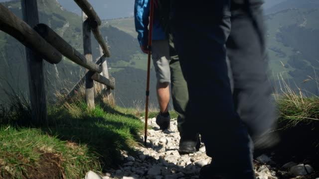 Backpacker walking