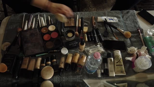 ATMOSPHERE Backstage ahead of the Francesca Liberatore show at Milan Fashion Week Autumn/Winter 2019/20 on February 22 2019 in Milan Italy