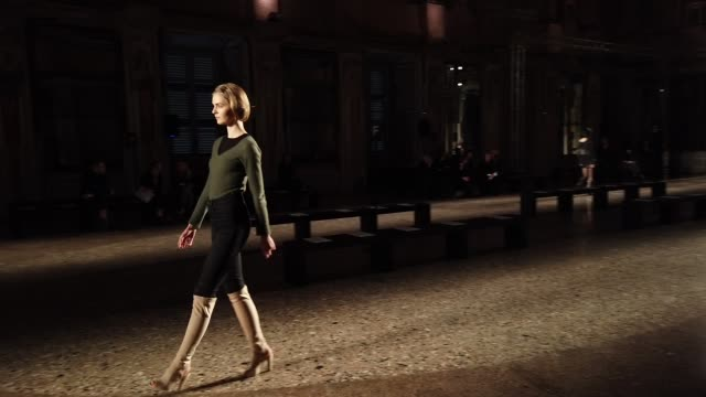 backstage ahead of the francesca liberatore show at milan fashion week autumn/winter 2019/20 on february 22, 2019 in milan, italy. - milan fashion week stock videos & royalty-free footage